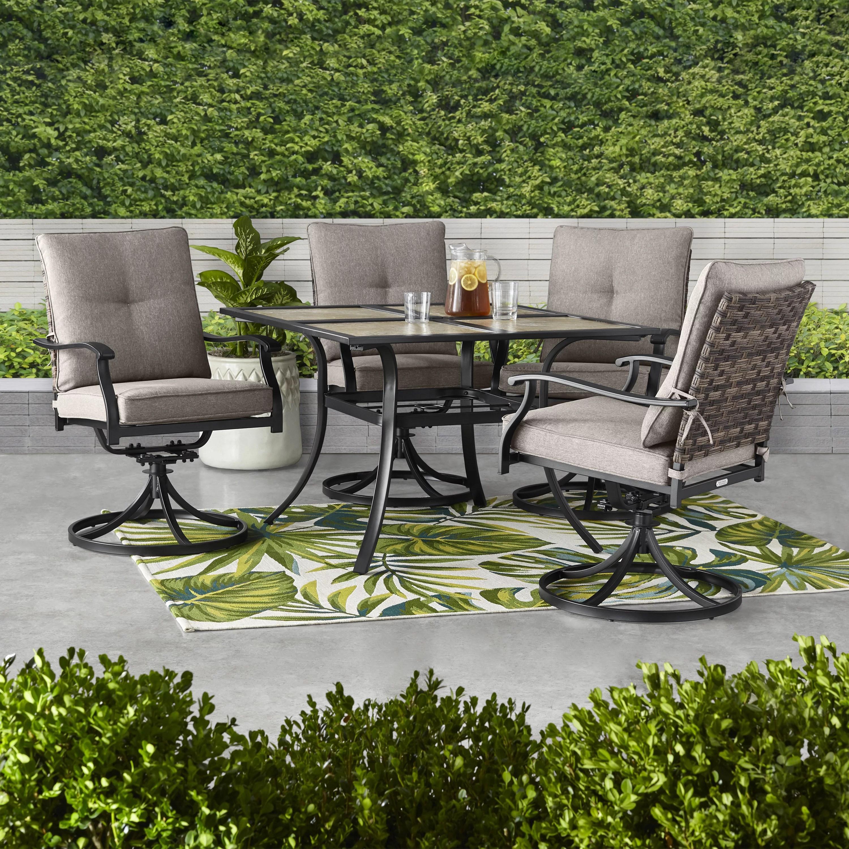 better homes gardens elmdale 5 piece outdoor dining set