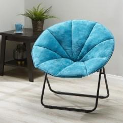 Saucer Chairs Sam S Club High Back With Ottoman Mainstays Folding Plush Chair Multiple Colors Walmart Com