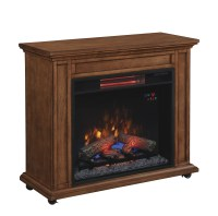 Duraflame Rolling Mantel with Infrared Quartz Fireplace ...