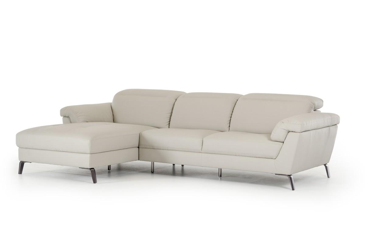 modern light grey eco leather sectional sofa left vig divani casa edelweiss walmart com