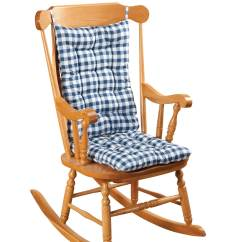 Rocking Chair Pads Walmart Hanging Wicker Without Stand Gingham Cushion Set By Oakridgetm - Walmart.com