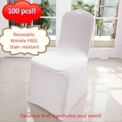 Folding Chair Covers For Wedding White Leather Task Holiday Clearance 100pcs Banquet Spandex