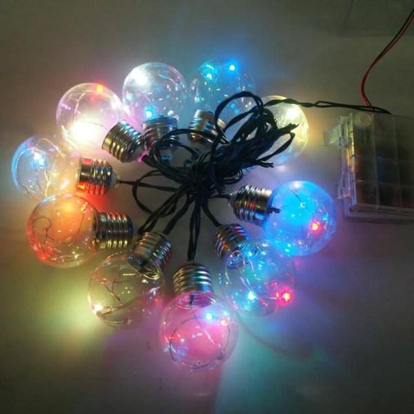 Christmas Light Bulbs Fairy String Lights 10-bulb Multi-color 48
