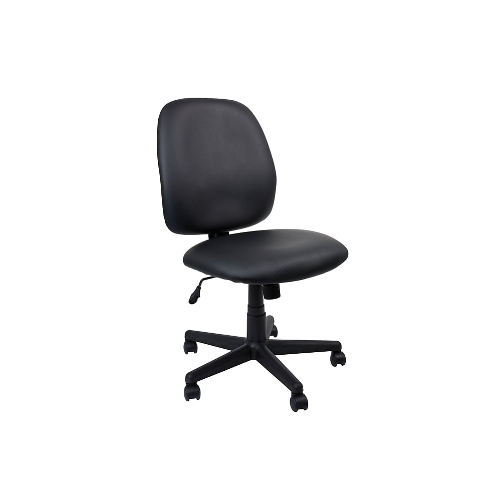 Staples Task Chair Staples Haydn Luxura Mid Back Task Chair Without Arms Black 1635587