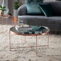 Belham Living Bradley Round Copper Coffee Table - Walmart.com