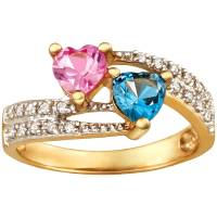 Personalized Keepsake Pure Promise Ring with Birthstones ...