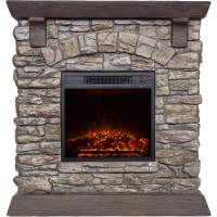 "Polyfiber Electric Fireplace with 38"" Mantle - Walmart.com"