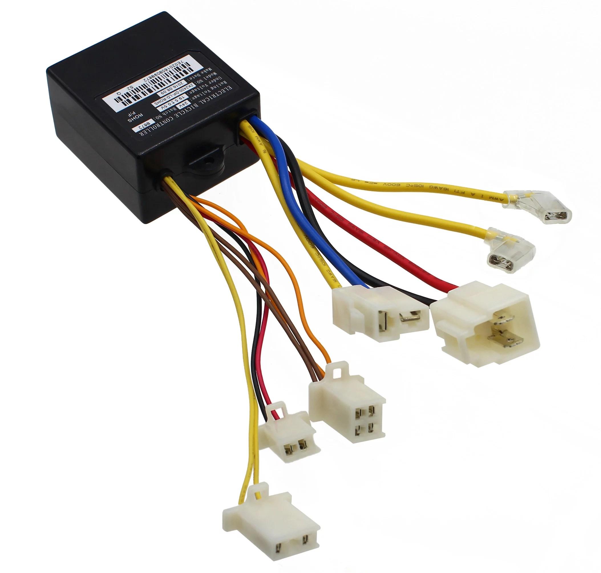 razor e100 electric scooter wiring diagram dayton capacitor start motor controller 7 wire e300 24v control module with connectors for v10 e125 walmart trikke e2