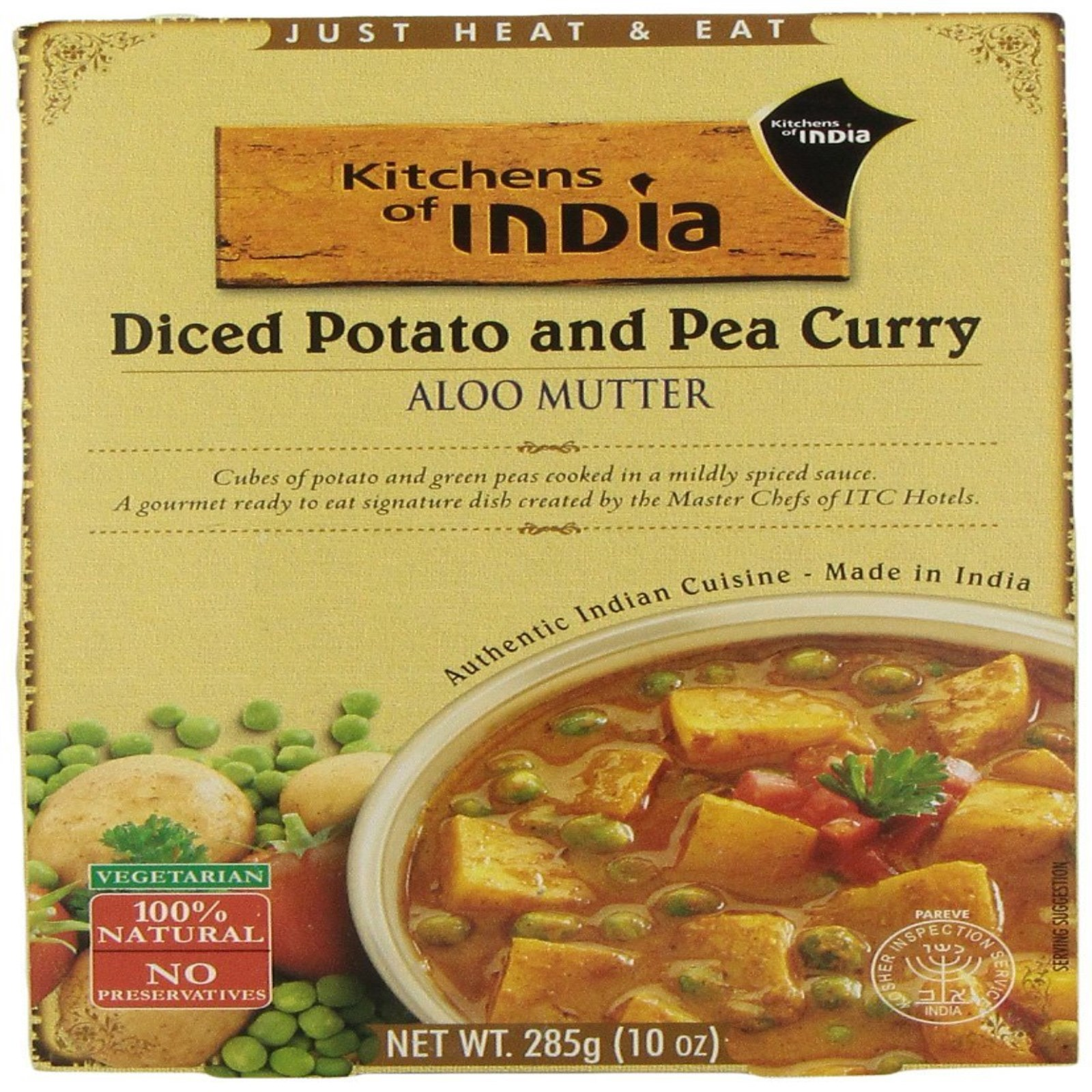kitchen of india sinks and faucets kitchens aloo mutter diced potato pea curry 10 oz pack 6 walmart com