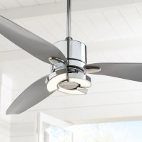 "56"" Possini Euro Design Modern Ceiling Fan with Light LED ..."