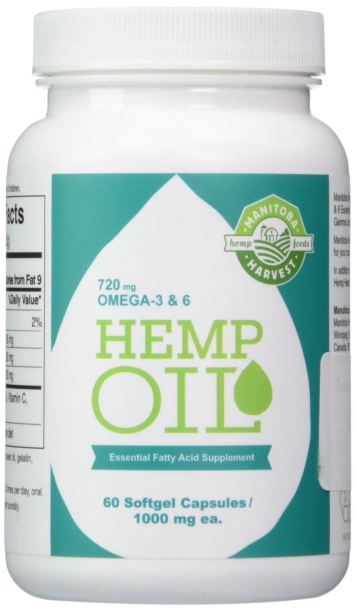 Manitoba Harvest Hemp Seed Oil Capsules - 60 Capsules ...