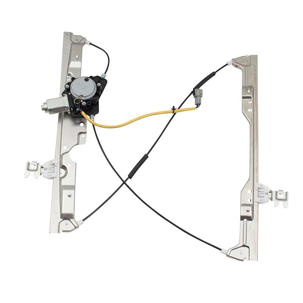 hight resolution of brock pair set front power window lift regulators w motor assemblies for 04 09 nissan quest 807215z000 807205z000 walmart com