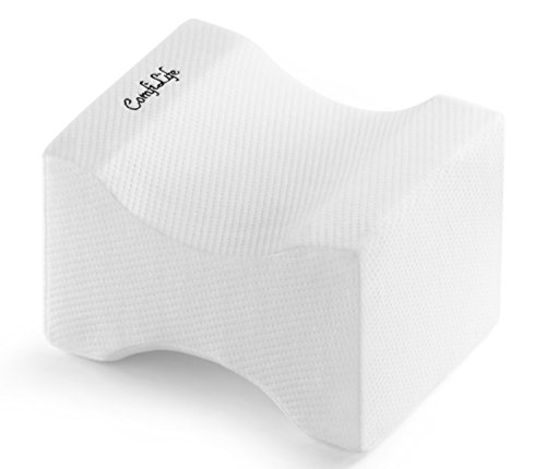 comfilife orthopedic knee pillow for sciatica relief back pain leg pain pregnancy hip and joint pain memory foam wedge contour