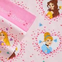 Disney Princess Cinderella Belle Flannel Sheet Set Full