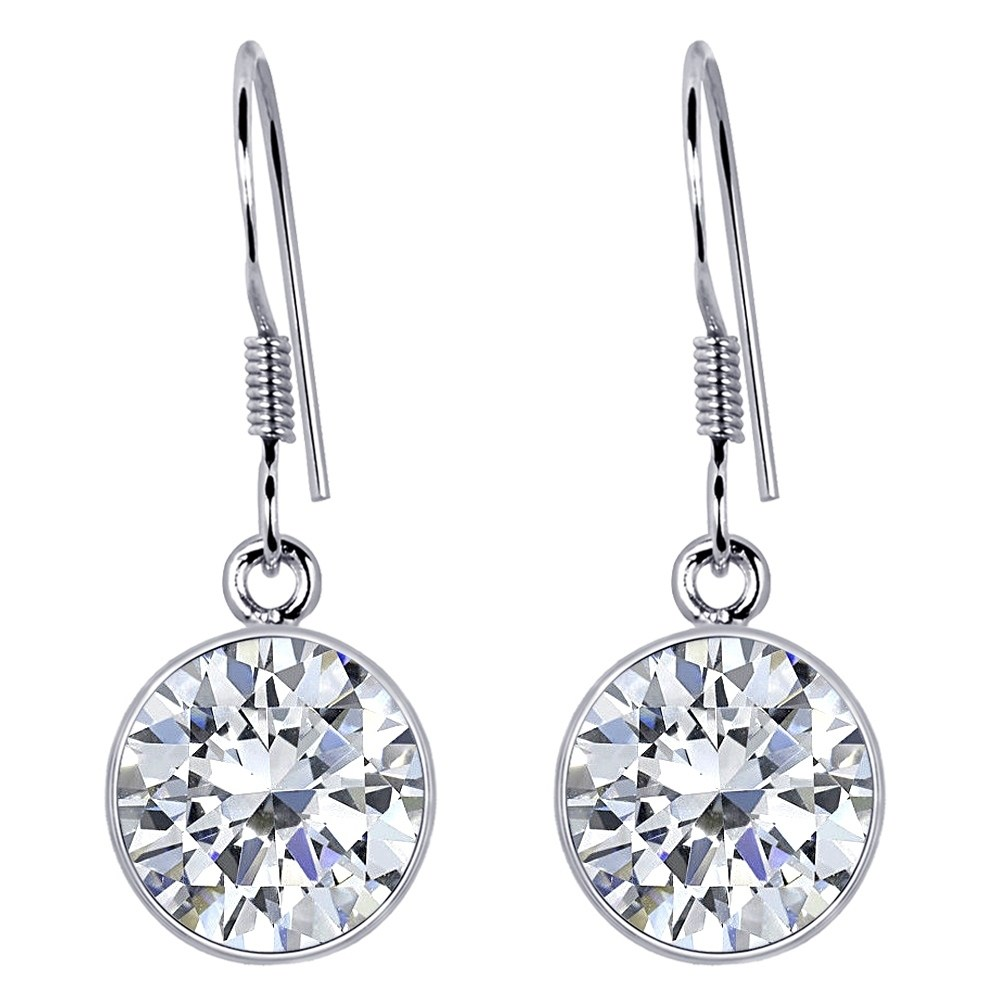 2.1 Ct Round 925 Sterling Silver Natural White Topaz