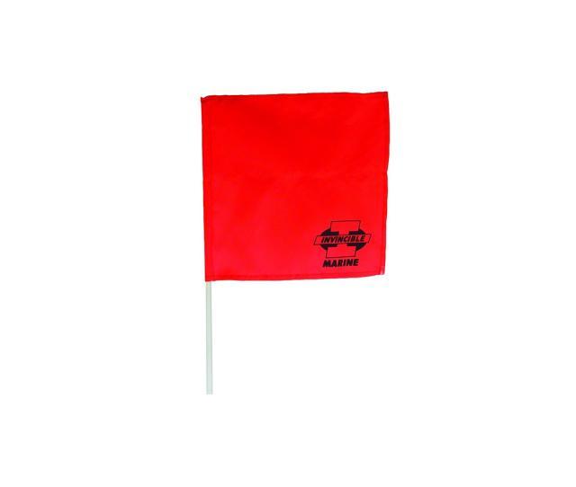 Invincible Skier Down Flag Stick Orange Br58117