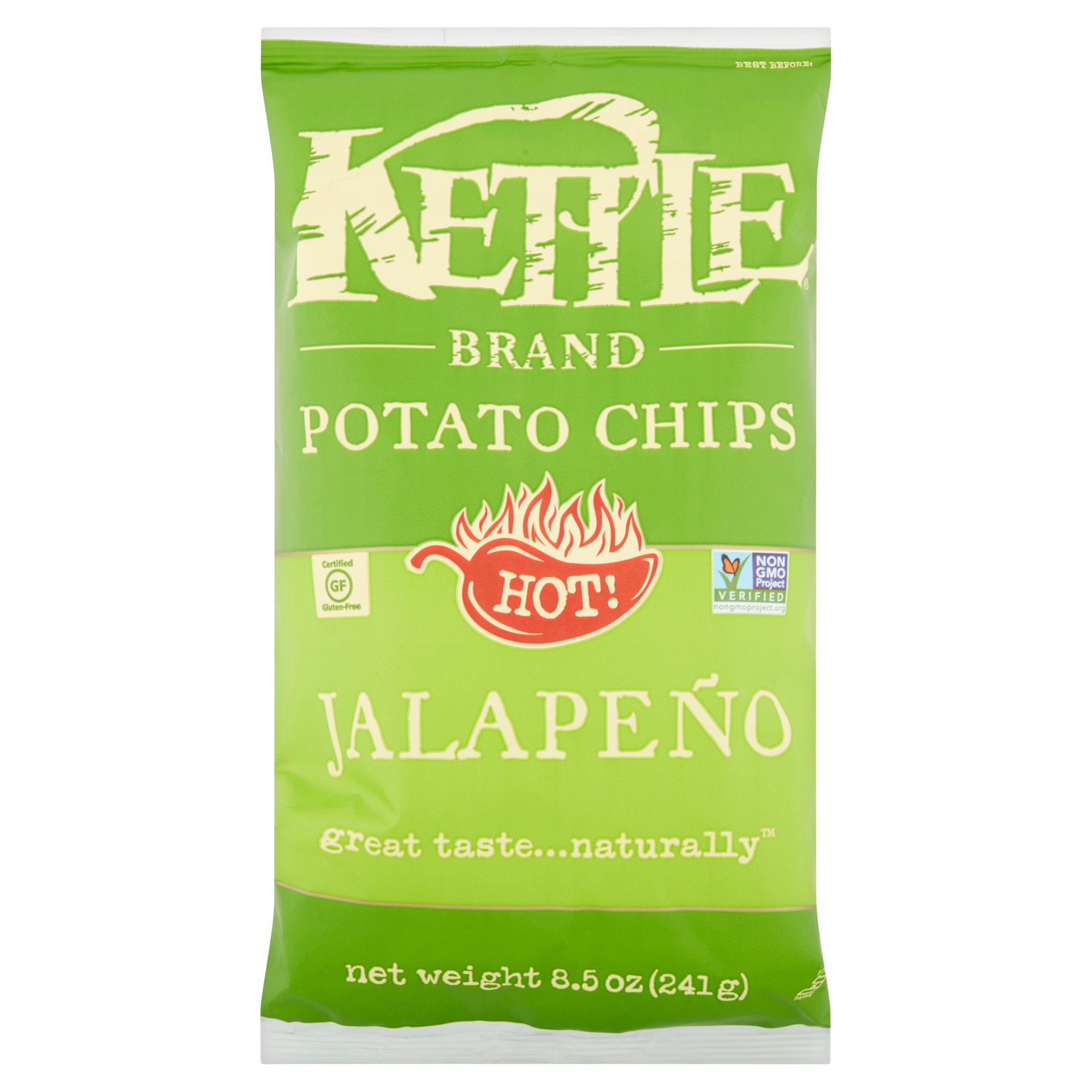 Lay39s Kettle Cooked Jalapeno Potato Chips 85 oz Bag