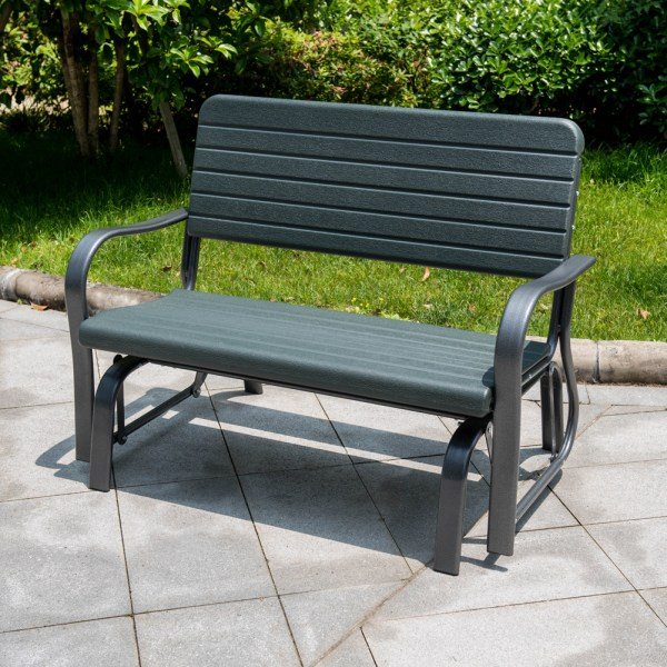 Sundale Outdoor Deluxe 2 Person Loveseat Glider Bench