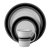 Mainstays 48pc Black Band Dinnerware Set - Walmart.com