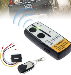 12v 50ft cordless car electric wireless winch remote control handset switch remote control switch unit kits for truck atv suv trailer walmart com [ 1200 x 1200 Pixel ]