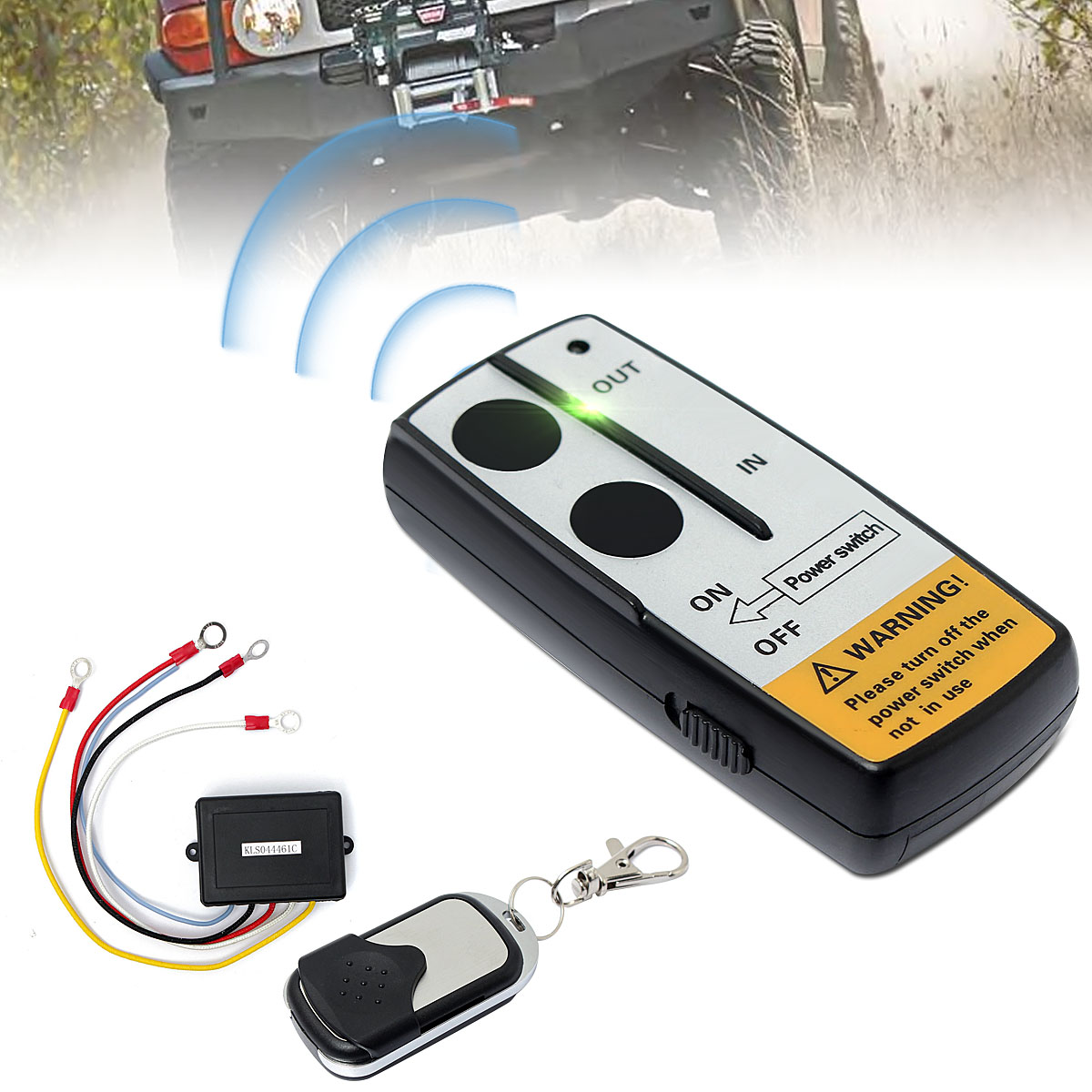 hight resolution of 12v 50ft cordless car electric wireless winch remote control handset switch remote control switch unit kits for truck atv suv trailer walmart com