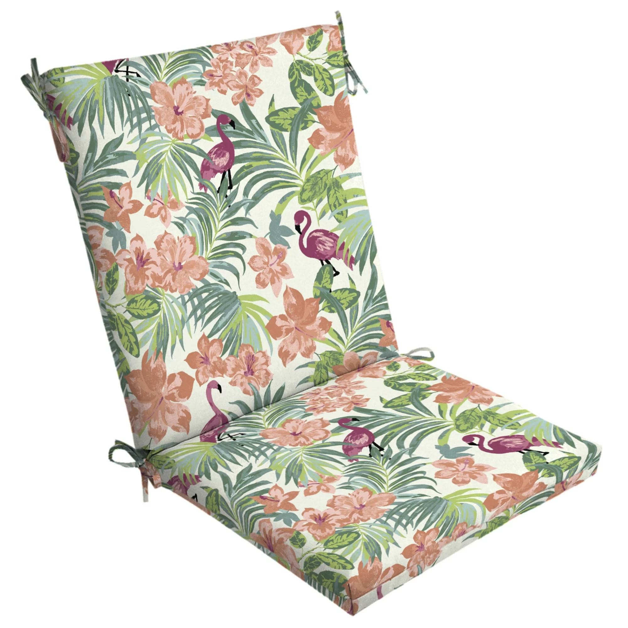 arden selections luau flamingo tropical 44 x 20 in outdoor chair cushion