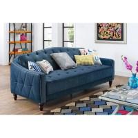 Vintage Tufted Sofa Sleeper Green Blue Gray Pink Dark Red