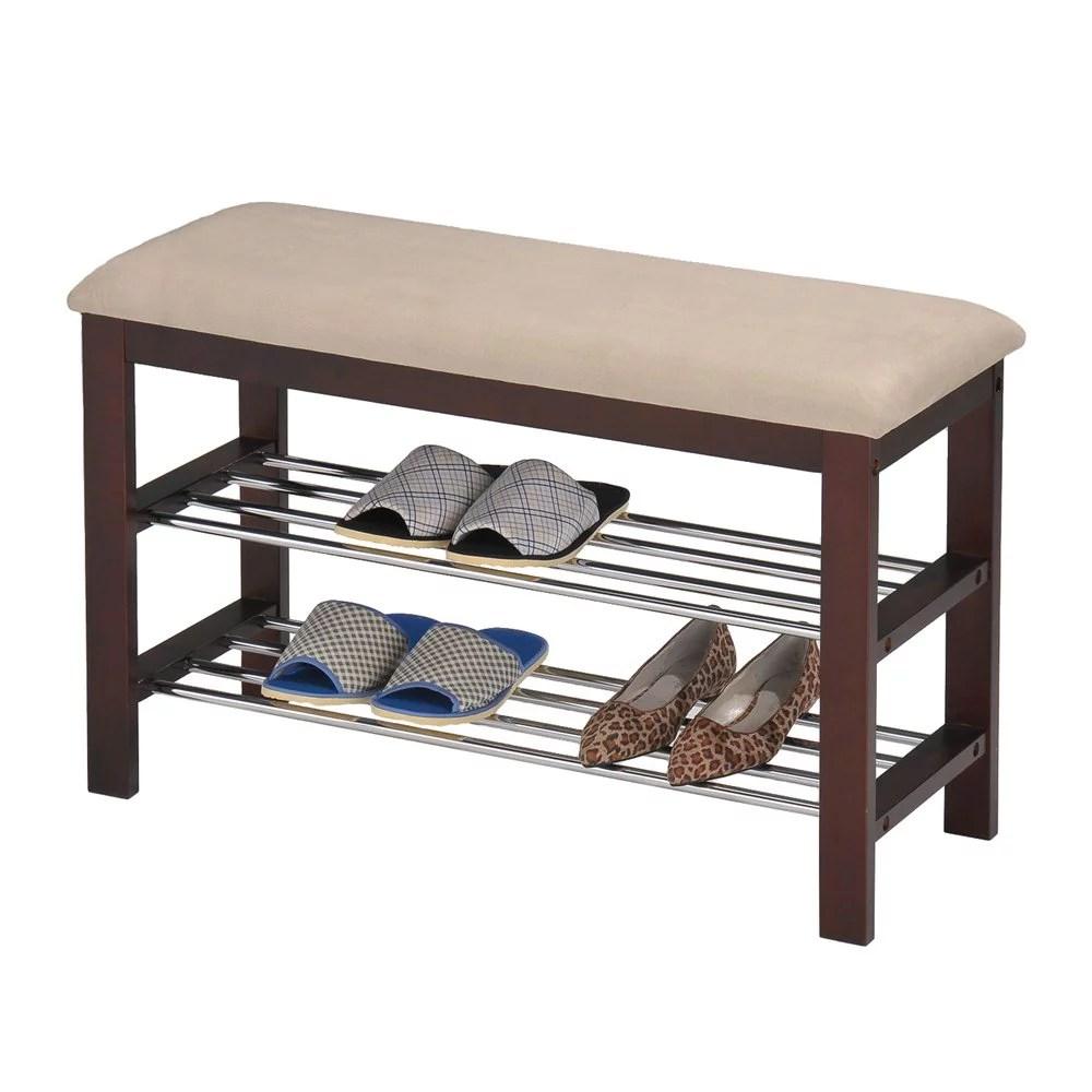 inroom designs shoe rack bedroom hallway bench walmart com
