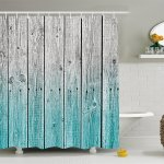 Rustic Shower Curtain By Wood Panels Background With Digital Tones Effect Country House Image Fabric Bathroom Decor Set With Hooks 70 Inches Teal Grey By Ambesonne Ship From Us Walmart Com
