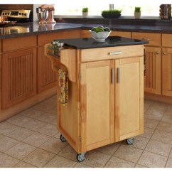 Granite Top Kitchen Cart Towels Bulk Cuisine Natural Finish Black Walmart Com