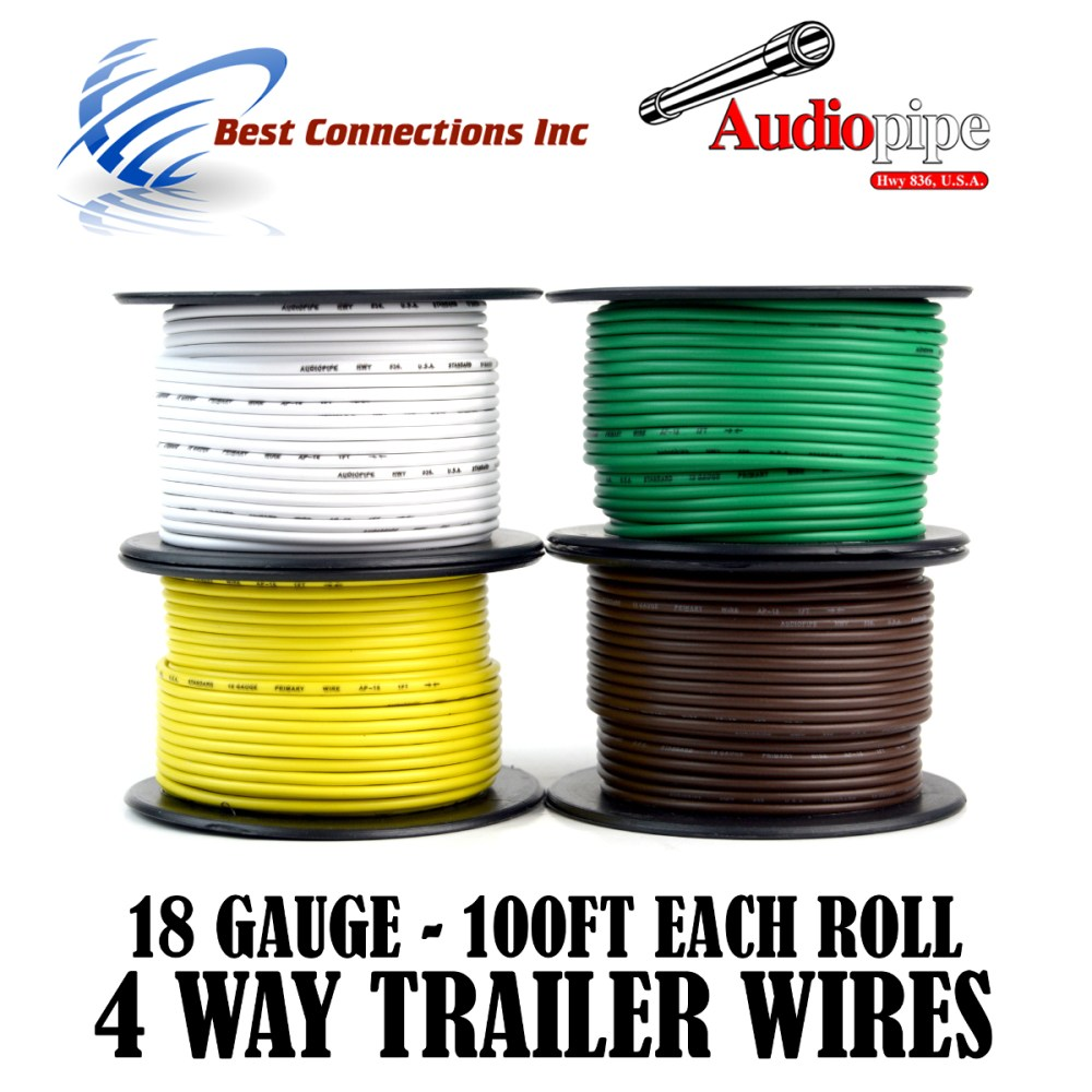 medium resolution of 4 way trailer wire light cable for harness led 100ft each roll 18 gauge 4 rolls walmart com