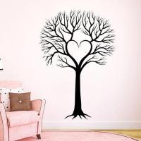 Stickalz llc Wall Decal Tree Silhouette Decals Natural ...