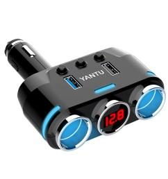 cigarette lighter adapter 100w 3 1a dual usb cigarette lighter splitter car charger with voltage display car 12v dc car socket splitter with on off switch [ 1600 x 1600 Pixel ]