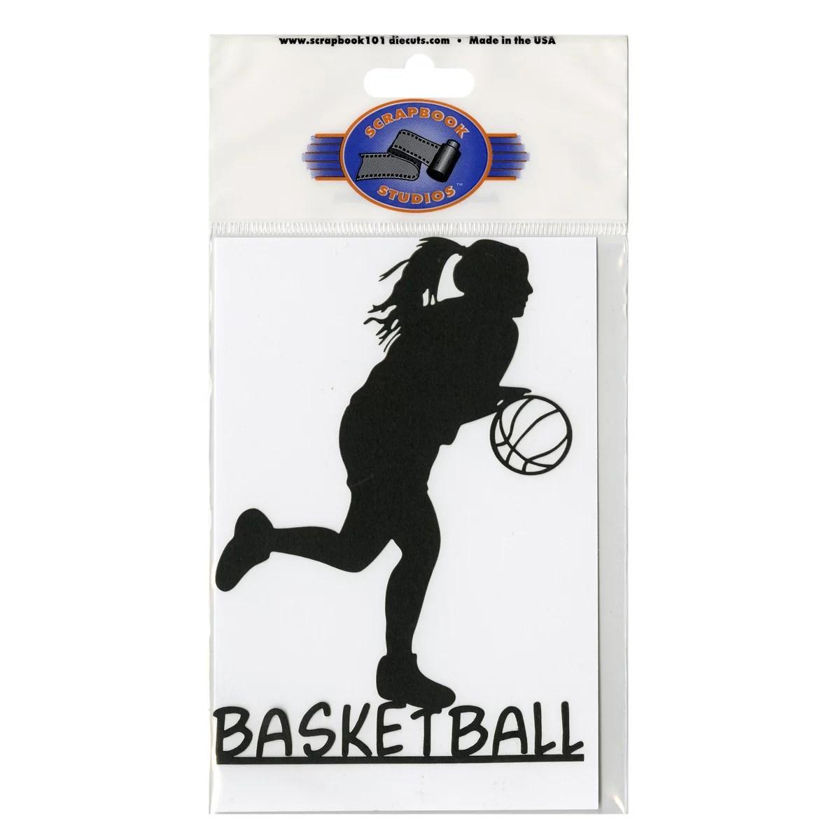 Scrapbook 101 Shape Cardstock Die Cuts Basketball Girl