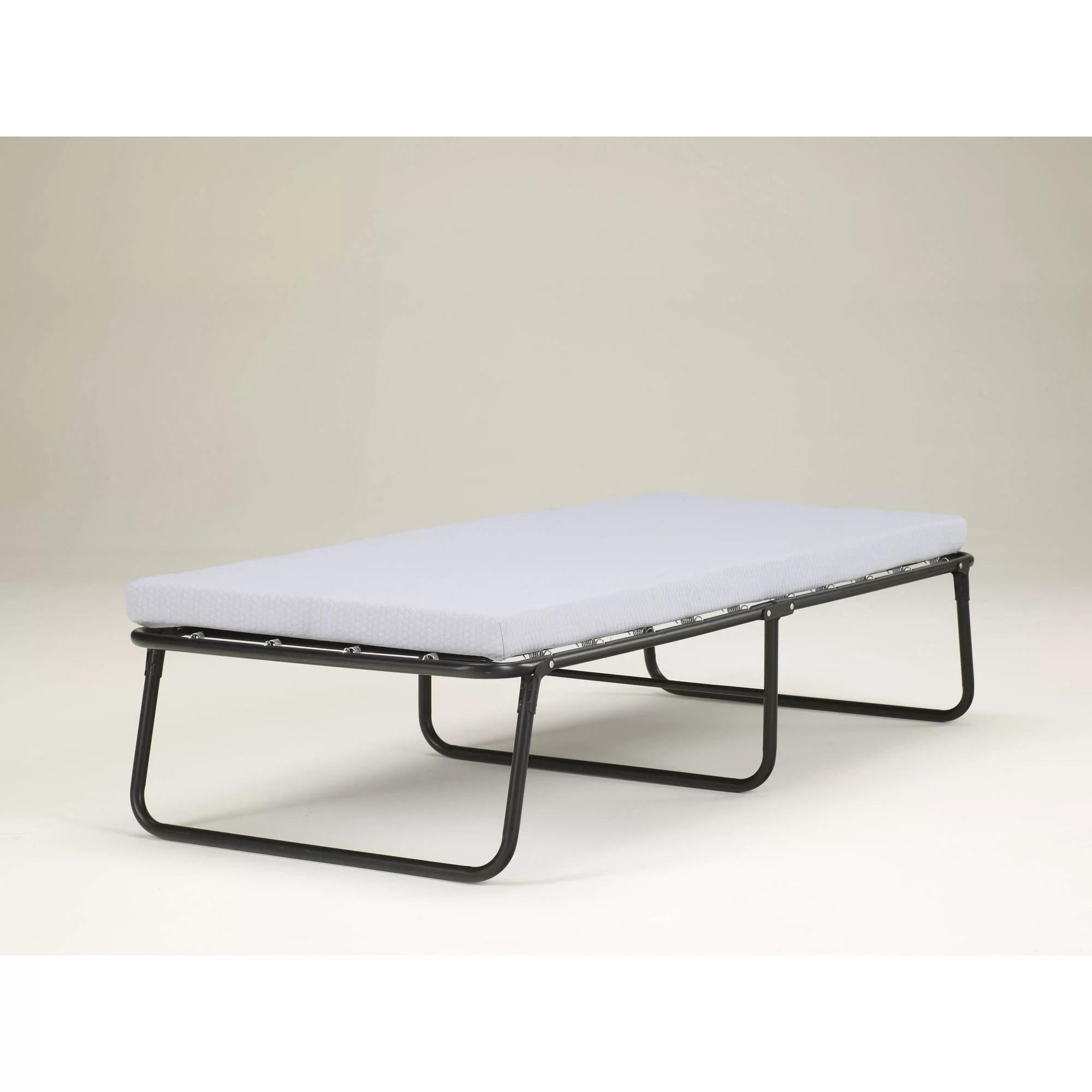 Simmons Beautysleep Folding Guest Bed With Springs And Memory Foam Mattress Twin Walmart Com Walmart Com