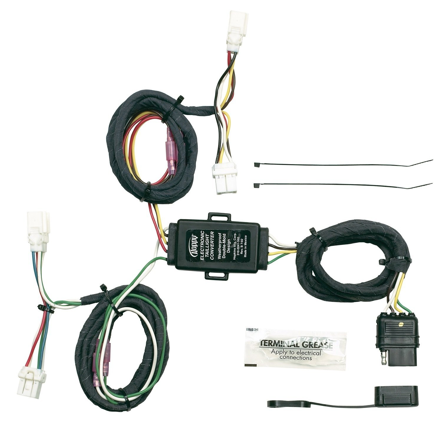 hight resolution of hopkins 43565 plug in simple vehicle wiring kit t connectors allow you to connect your trailer s wiring system into your vehicle s wiring