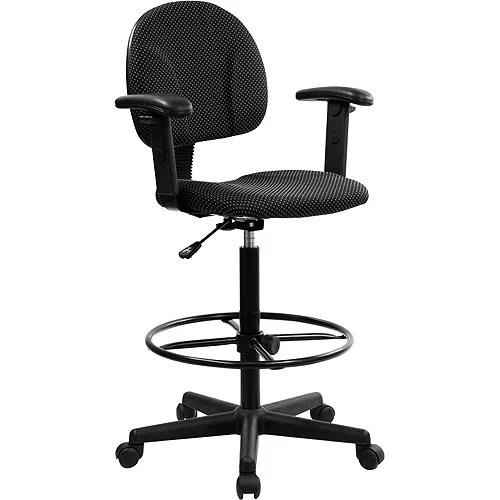 ergonomic chair bd adult bean bag multi-function drafting stool with adjustable arms, black - walmart.com