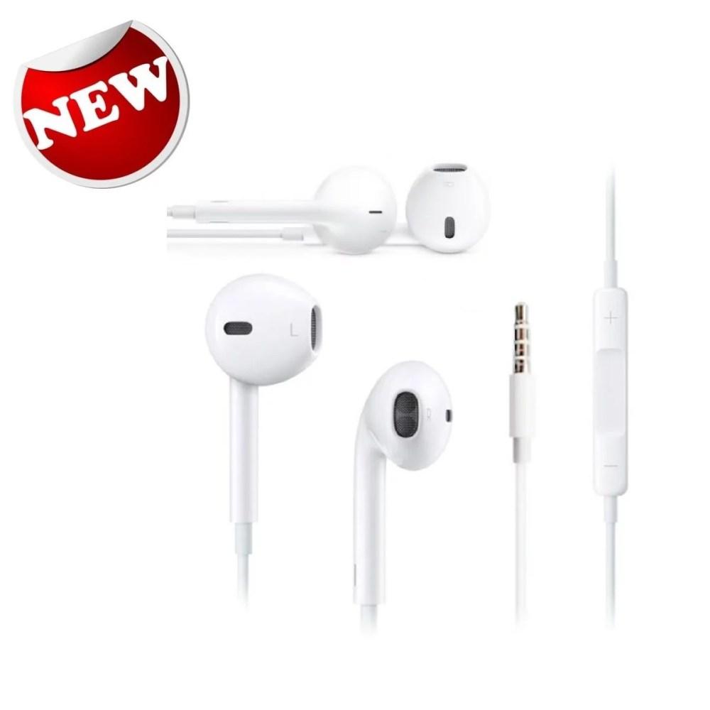 medium resolution of new original apple iphone 5 5s 6 6s earpods earphones headphones w remote mic walmart com