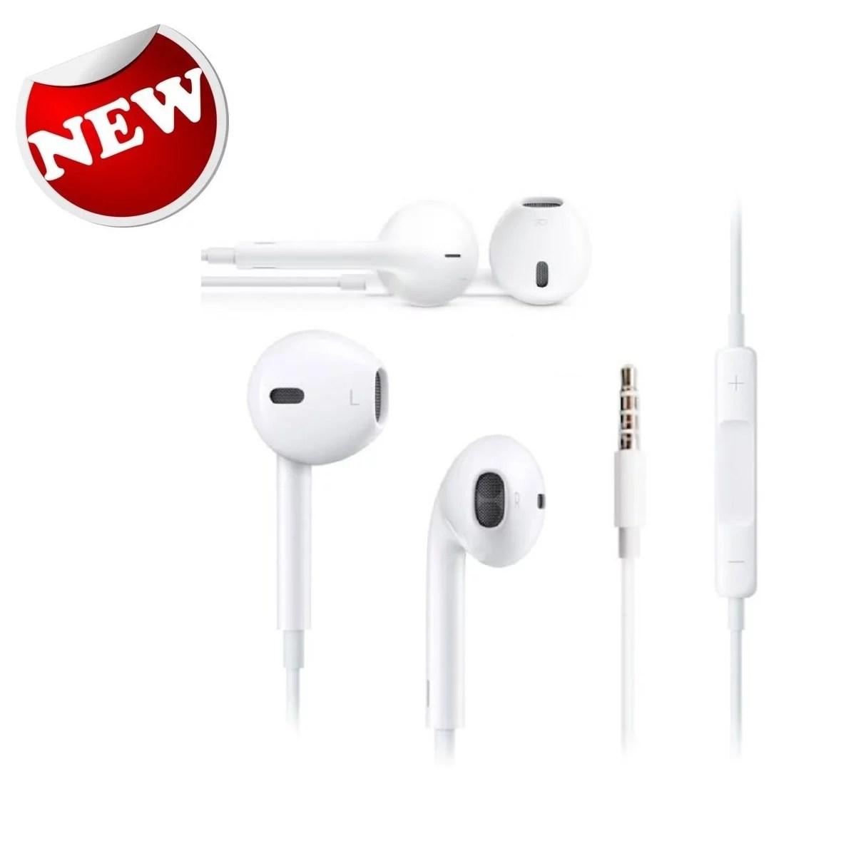 hight resolution of new original apple iphone 5 5s 6 6s earpods earphones headphones w remote mic walmart com