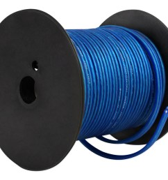 rockville r14gblu100 blue 14 gauge 100 foot mini spool car audio speaker wire walmart com [ 1700 x 1400 Pixel ]