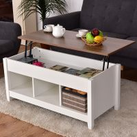 Costway Lift Top Coffee Table w/ Hidden Compartment and ...