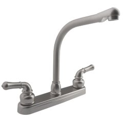 Rv Kitchen Faucets Upgrading Countertops Dura Faucet Classical Hi Rise Brushed Satin Nickel