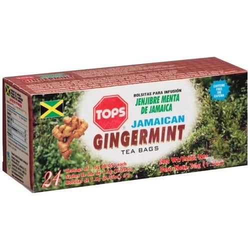Tops Jamaican Gingermint Tea 0.05 oz 24 count - Walmart ...