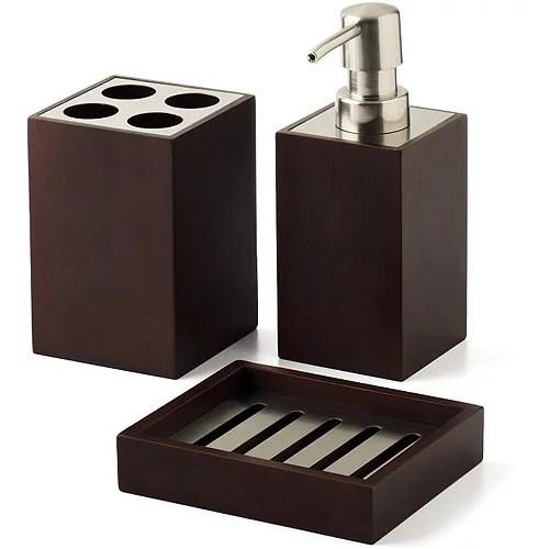 Hometrends Mabry 3 Piece Bath Accessories Set Brown