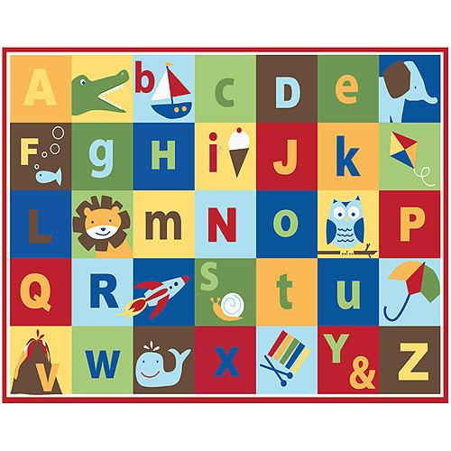 Mainstays Kids Teach Me Alphabet Nylon Rug Multicolor
