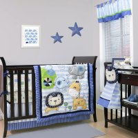 Belle Baby Crib Bedding Set - Blue Jungle Theme - Baby ...