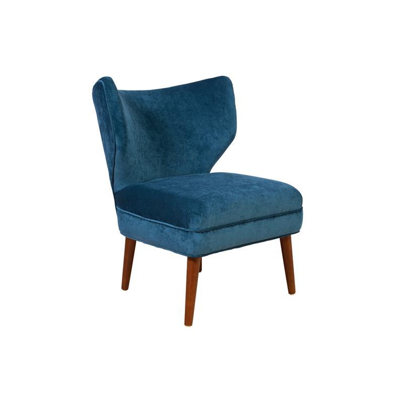 Layla BarrelBack Microfiber Accent Chair  Blue  Walmartcom