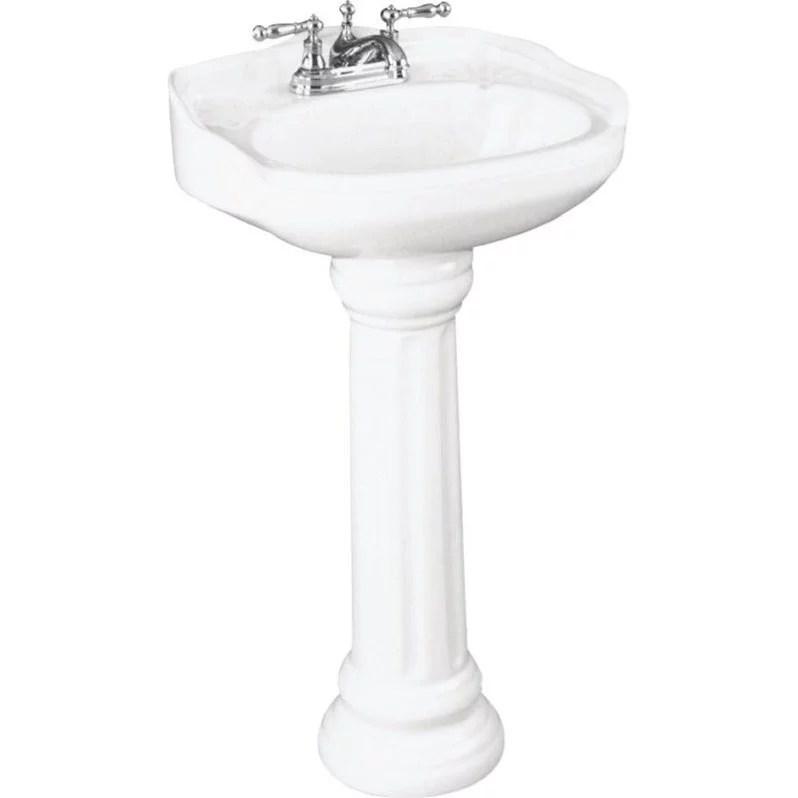 st thomas by icera arlington petite pedestal combo bathroom sink in white walmart com