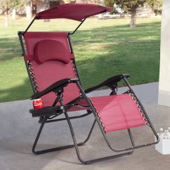 Anti Gravity Lawn Chair Dining Table With 8 Chairs Gymax Folding Recliner Zero Lounge W Shade Canopy Cup Holder Wine Walmart Com