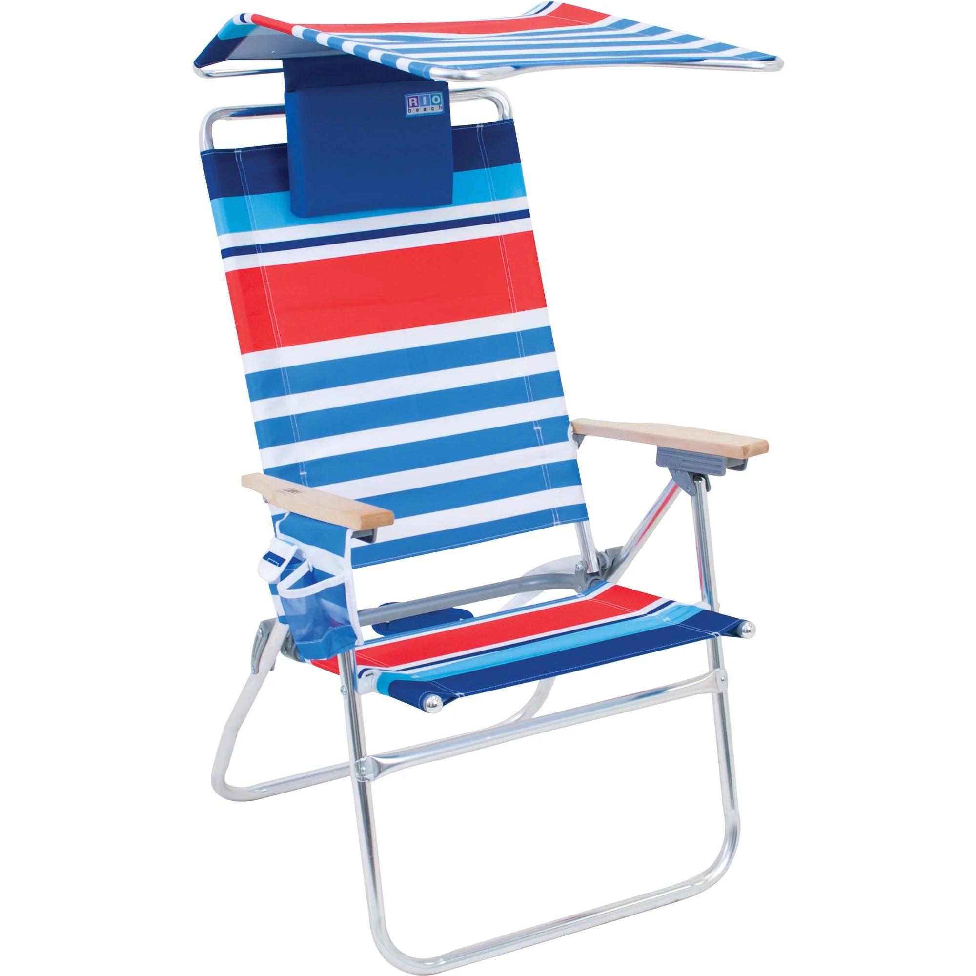 Rio HiBoy 7Position Beach Chair with Adjustable Canopy
